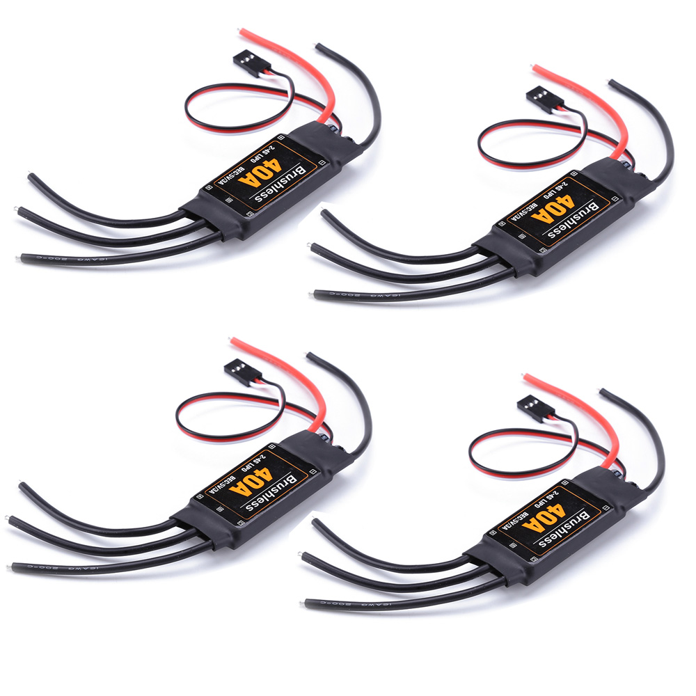 4pcs/lot Mitoot Brushless 40A ESC Speed Controler 2-4S With 5V 3A UBEC For RC FPV Quadcopter RC Airplanes Helicopter4pcs/lot Mitoot Brushless 40A ESC Speed Controler 2-4S With 5V 3A UBEC For RC FPV Quadcopter RC Airplanes Helicopter