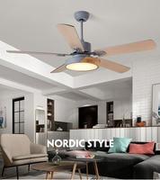 Retro Ceiling Fan Light Living Room Remote Control Fan Lighting Antique Wood Leaf Simple Restaurant Electric Fan Light