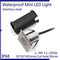 Stainless Steel 12V IP68 Waterproof LED Underwater Swimming Pool Light Lamp 3W Spa Lake Yard Pond