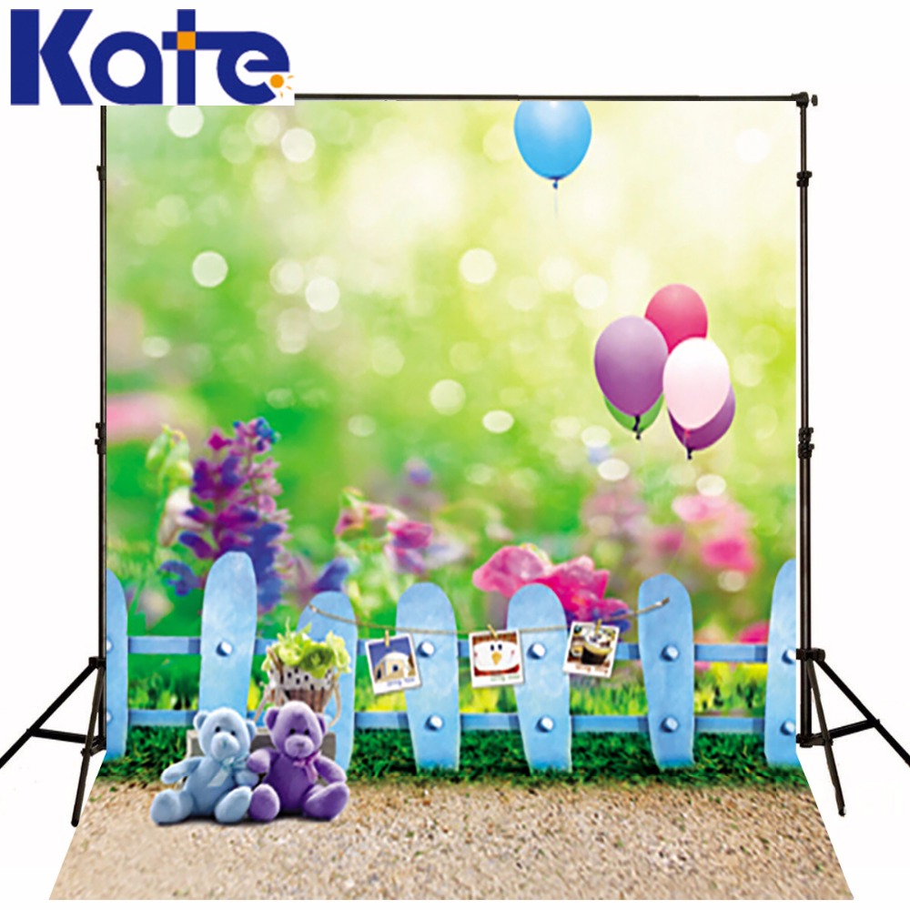 6.5Ft*10Ft(200Cm*300Cm)Kate Photography Backdrops Bear Balloon Fences  Newborn Photography Scenic Photography Backdrops Fantasy 300 200cm 10ft 6 5ft photography backdrops scattered horse petal branch