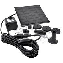Imc pond fountain submersible solar panel pump power water hot