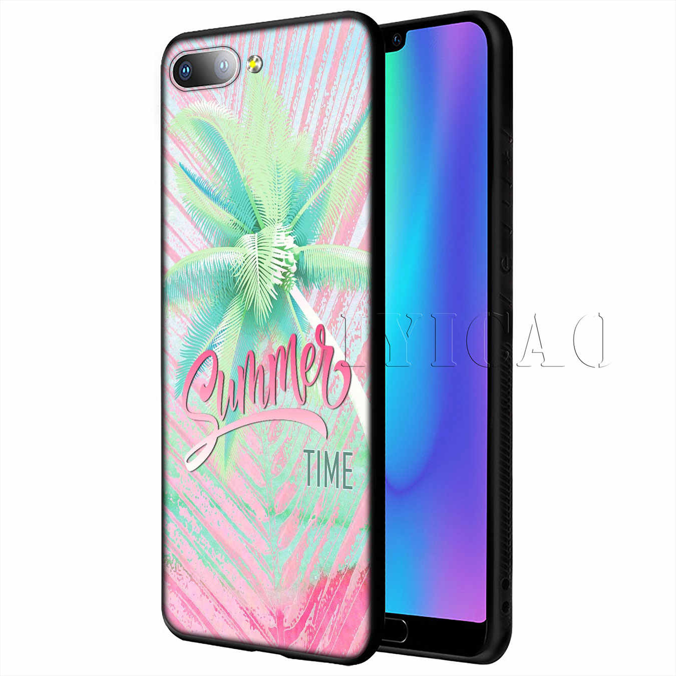 huge selection of 78048 e81a6 IYICAO Cool in summer Silicone Soft Case for Huawei P20 Pro P10 P8 P9 Lite  Mini 2017 P Smart 2019 Cover