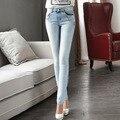 Denim ladies Korean version was thin package hip jeans female legs and feet pencil pants 9829