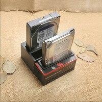 New 3 Slots Hard Disk Holder 2 USB Port Multi function Hard Disk Drive Base for Card Reader