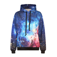 New 2017 colorful space galaxy hoodies sweatshirts 3d nebula all over print hooded loose Pullovers hoody