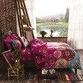Leve Microfibra Edredon Conjunto de Tampa, Bohemia Exotic Padrões de Design, Rosa brilhante