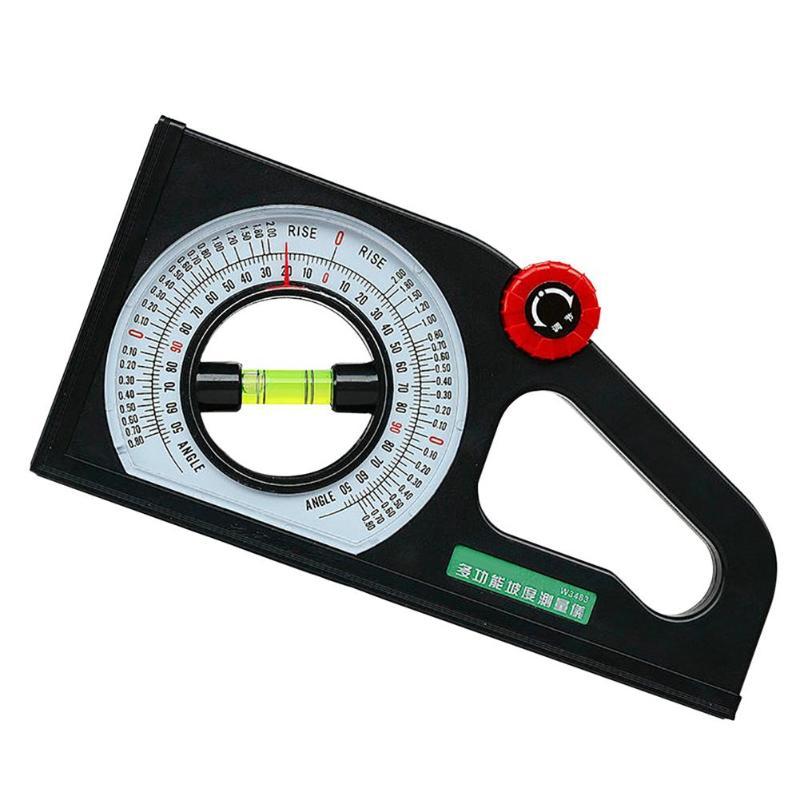 1pc 多機能分度器アングルファインダースロープスケールレベル測定器レベルバブル傾斜計 -