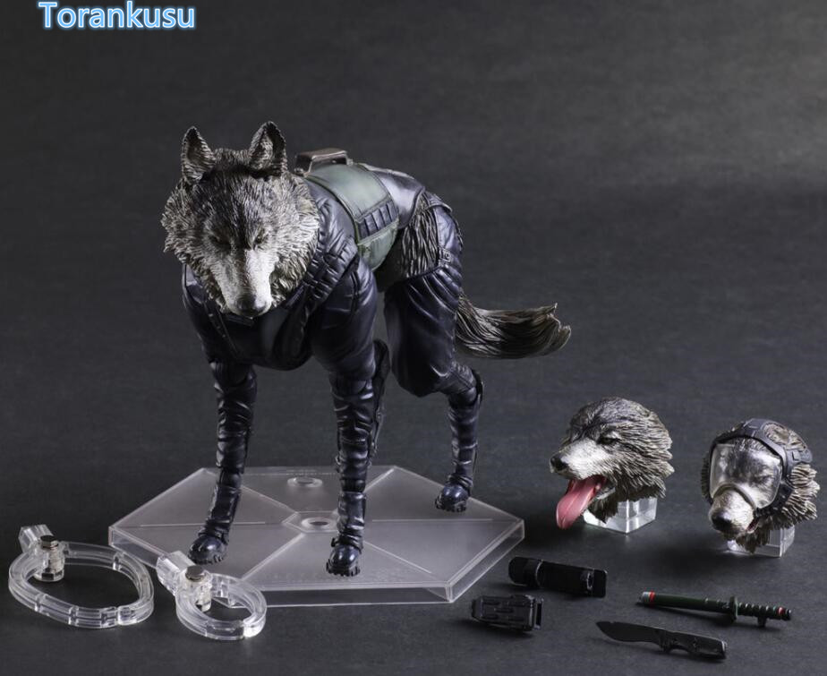Metal Gear Solid Action Figure Diamond Dog Play Arts Kai PVC Figure Toy 200mm Metal Gear Solid D-Dog Collectible Model Doll PA26 1 6 scale model metal gear solid v the phantom d dog diamond dog about 23cm collectible figure model toy gift
