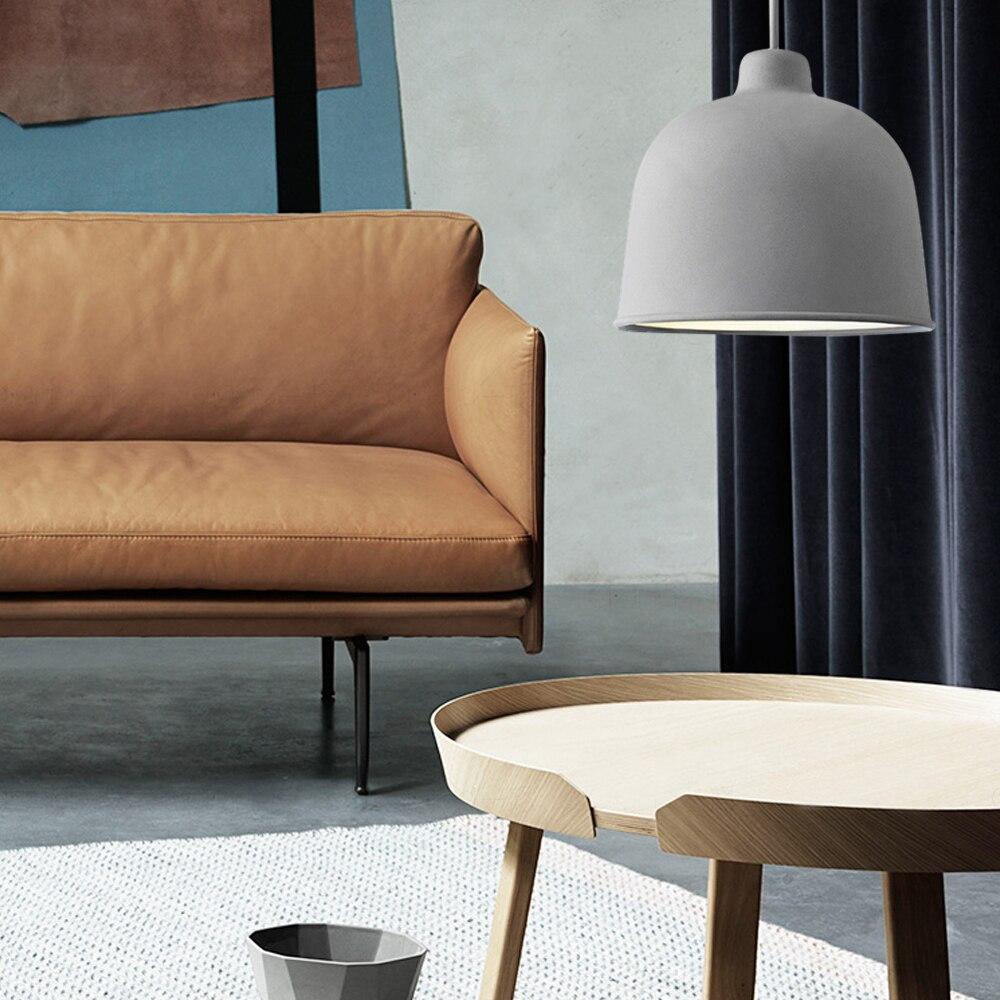 Pendant Lights Living Room Lamp Metal White Suspension Luminaire Restaurant Led Light Industrial Shades