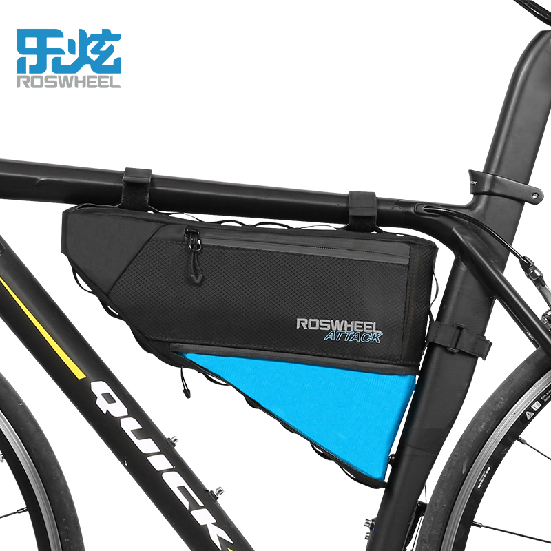 ROSWHEEL 3 + 1L Réglable Évolutive Haute Capacité sac pour vélo Durable Vélo VTT Montagne Route sac de vélo Avant Top Tube sac à armature