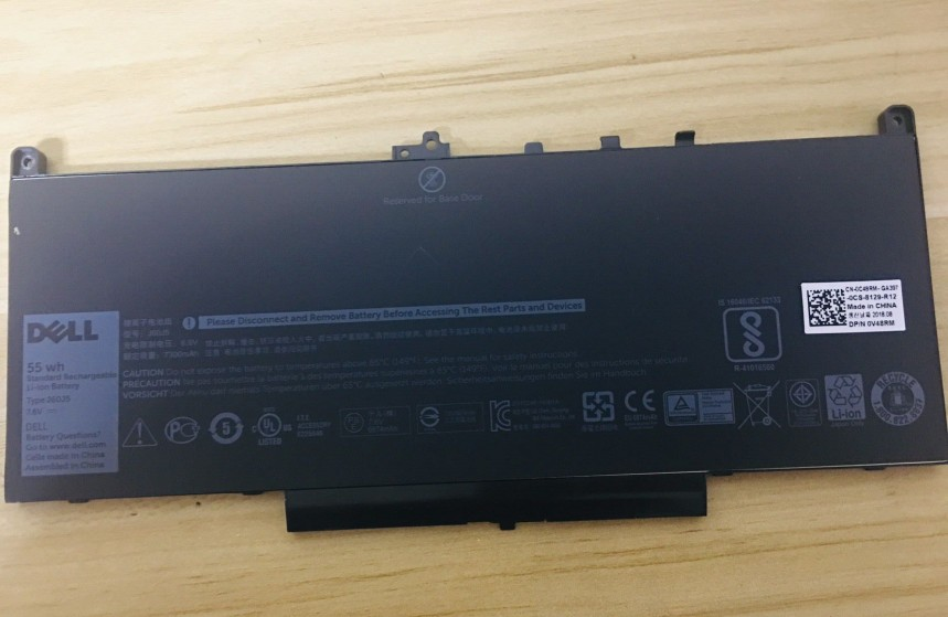 New Genuine Dell Latitude E7270 E7470 55 Wh 7.6V Battery J60J5