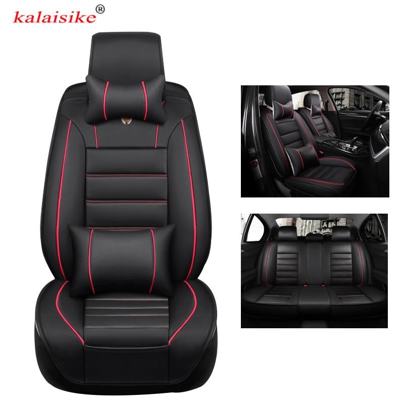 Kalaisike кожаные универсальные чехлы для сидений автомобиля для Honda все модели URV CRV CIVIC fit accord city XRV HRV jazz vezel Insight Spirior - 2