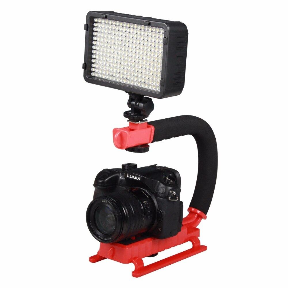 YELANGU en forma de C Video DV soporte ABS estabilizador Steadicam para todas las cámaras SLR y DV cámaras de Red