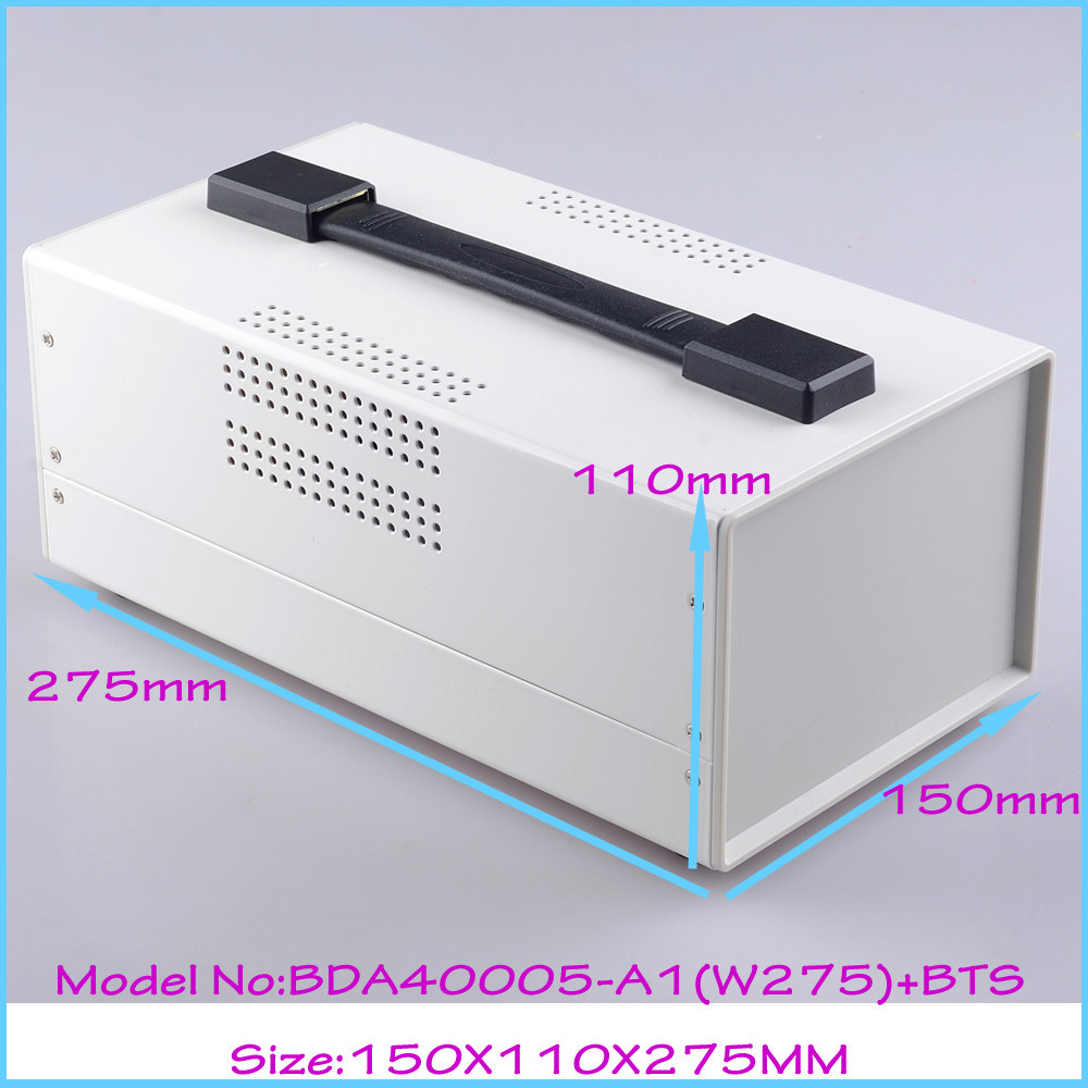 (1pcs)150x110x275mm electrical box electrical cabinet steel aluminium enclosure box for electronics instrument case outlet case 1 piece free shipping aluminium enclosure case aluminium extruded enclosure in silver color smooth surface silver color box