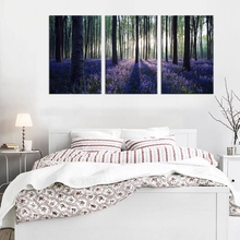 Wall Decor Canvas Print Lavender in Forest Sunshine Scenery Painting Wall Art Nature Picture Landscape Home Decoration Wholesale