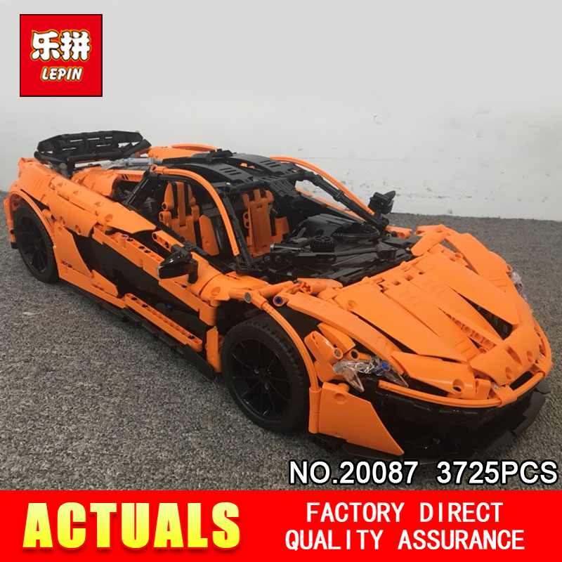 DHL Lepin 20087 Technic Toys The MOC-16915 Orange Super Racing Car Set Building Blocks Bricks Educational Toys DIY Birthday Gift