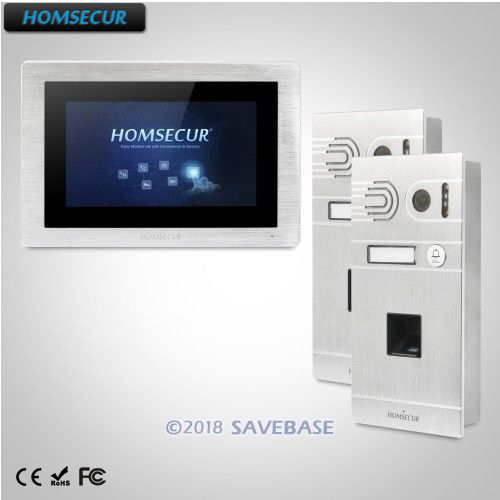 HOMSECUR 7 Wired Video&Audio Home Intercom with IR Night Vision for House/Flat: BC061-S Camera+BM714-S Monitor