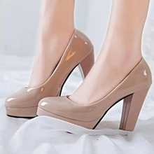 High Heels Shoes Women White Wedding Shoes Thick High Heels Fashion Party Pumps Footwear Yellow Red Big Size 9 10 41 42.
