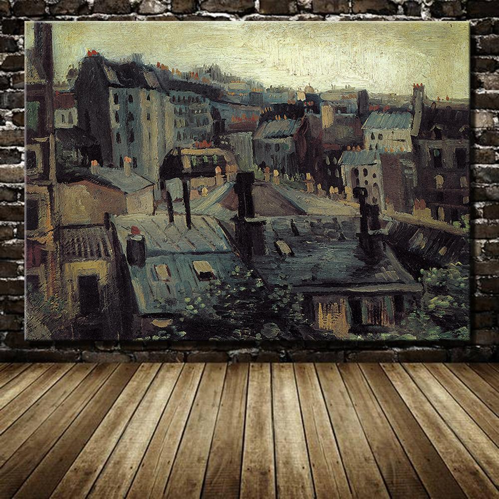 Roofs In Paris By Vincent Van Gogh Paintings Hand Made