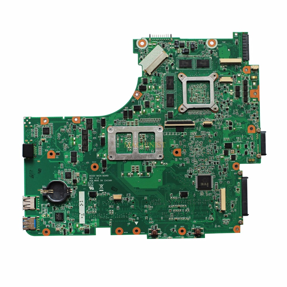 N53SV  laptop  motherboard For ASUS N53SN N53SM N53S N53SV REV 2.0 laptop motherboard HM65 PGA-989 GT540M 1GB DDR3 4 RAM USB 3.0 1