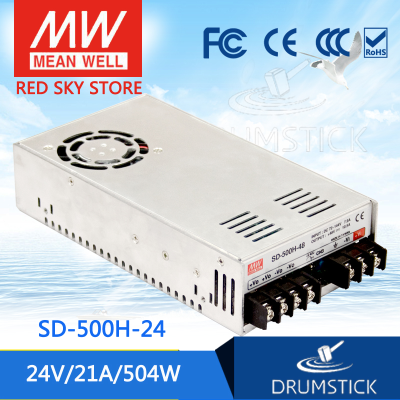 Selling Hot MEAN WELL SD-500H-24 24V 21A meanwell SD-500 24V 504W Single Output DC-DC Converter цена 2017