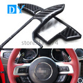 ABS Carbon fiber Steering Wheel Shift Paddle Extension Shifters paddle sticker For Ford Mustang 2015 2 color