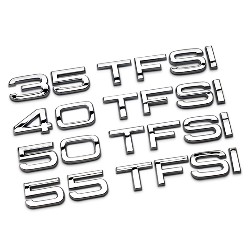 """New Large Size Silver /""""RS5/"""" ABS Number Letters Emblem Badge Sticker for Audi RS5"""