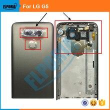 100% de buena calidad Para LG G5 Contraportada Puerta de La Batería Cubierta Trasera de Vivienda Volver piezas de Repuesto de Montaje Gris