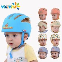 Casque de protection pour bébés, en coton, capuchon souple, pour bébés filles et garçons