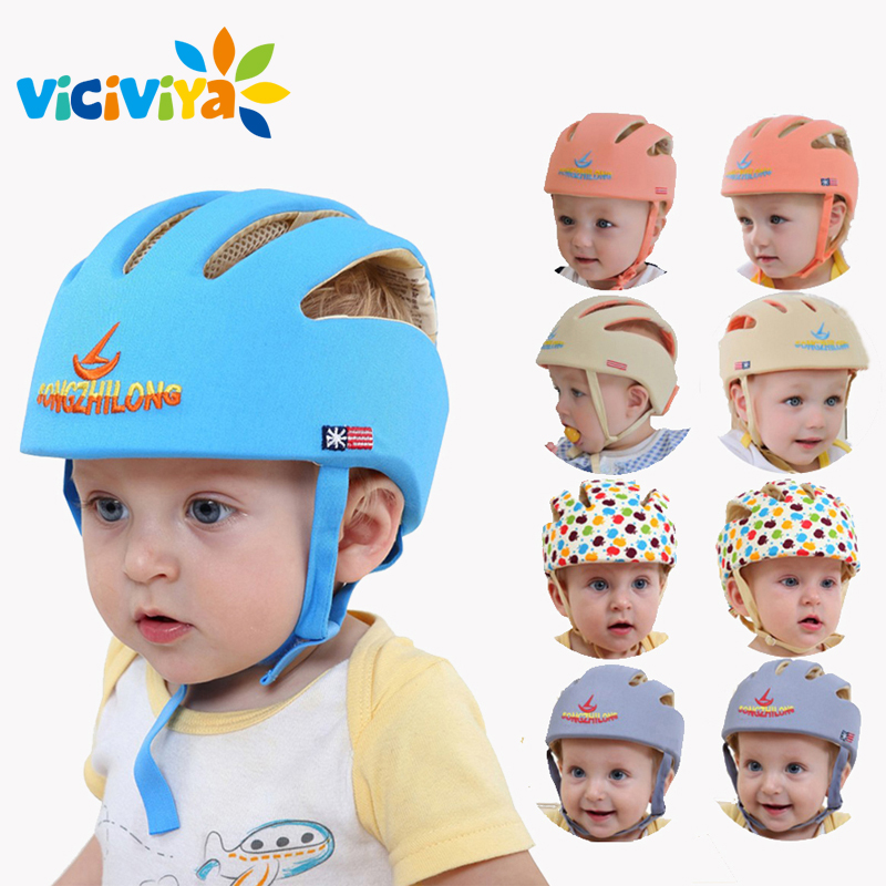 VICIVIYA Infant Protective Hat Safety Helmet For Babies Cotton Baby Toddler Anti collision Cap Kids Sun Hats Soft Children Caps#-in Hats & Caps from Mother & Kids
