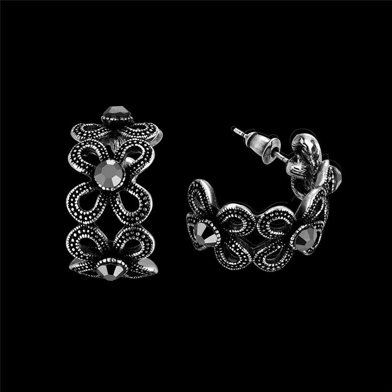 Stud Earrings For Men Women Punk Gothic Black Earrings Female Male Earings Fashion Jewelry Vintage Alloy Antique Mens Earrings