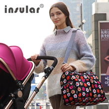 designer maternity bags 4m9l  Insular Larger Capacity Baby Stoller Bags Multifunctional Diaper Bag  Waterproof Maternity Bag Printed Designer Mummy Nappy