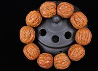 Collection Old Walnut kernel Walnut nuclear Carved amulet Pray Bracelet>>>Free shipping