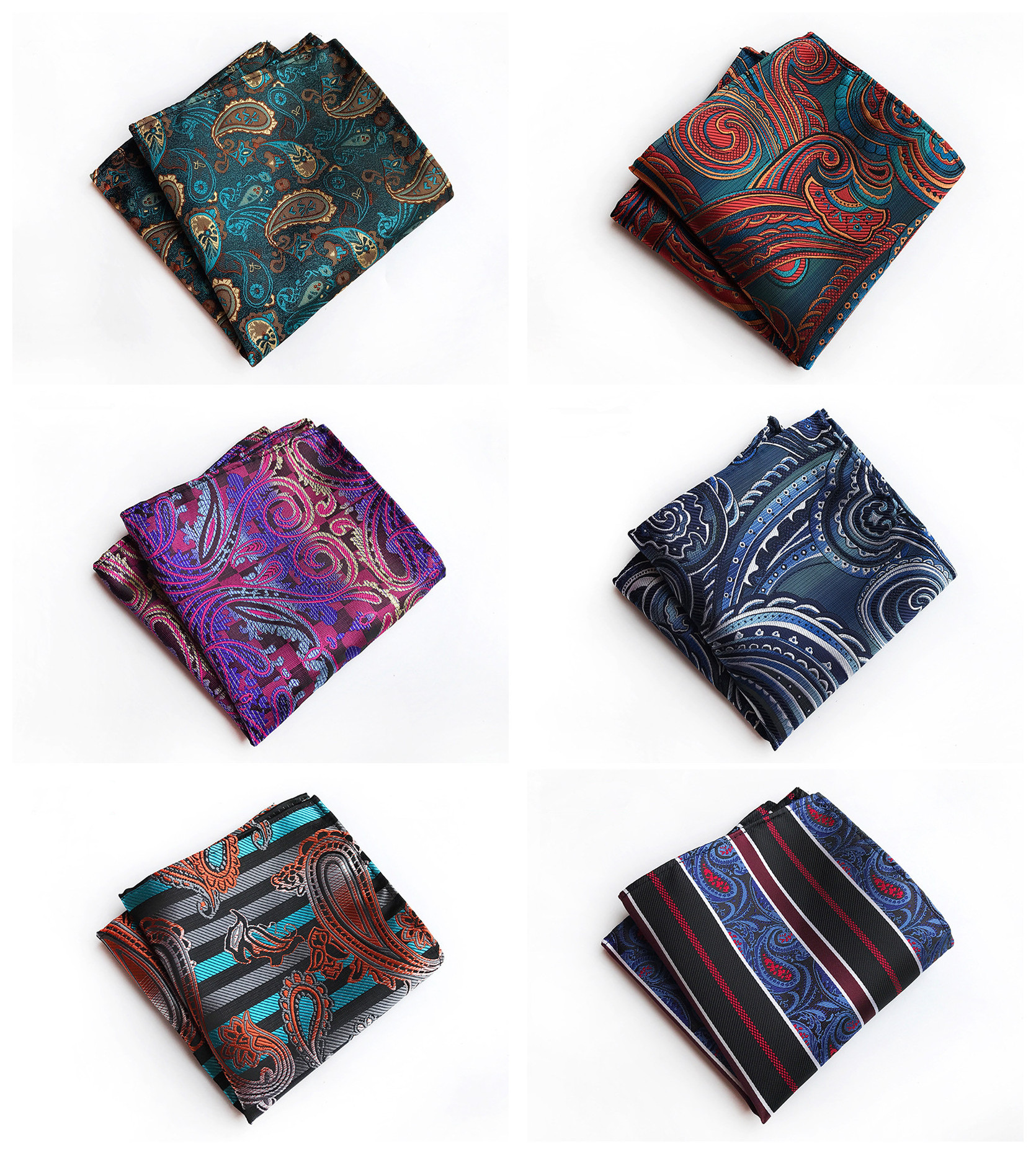 Fashion Quality Polyester Paisley Pocket Towel High-end Design Business Retro Men's Quality Decorative Handkerchief Pocket Towel