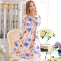 Spring New Arrival Women'S Nightgowns Long-Sleeve  100% Woven Cotton Sweet Elegant Sleepwear Lovely Nightgown Lounge 1797
