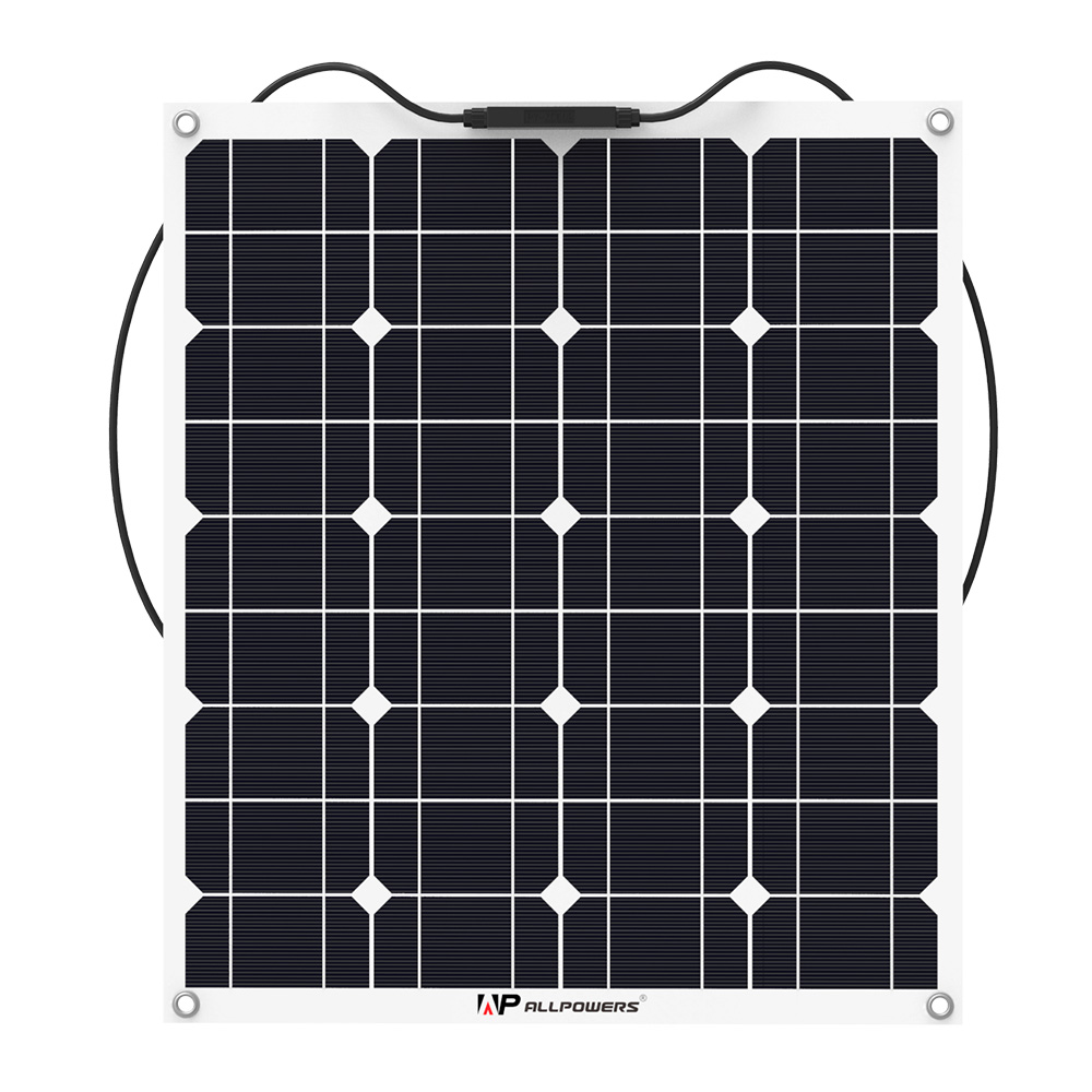 ALLPOWERS Flexible 50W  Monocrystalline Solar Panel with MC4 Cable  for RV/fishing boat/cabin/tent/yachts/car etc.