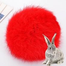 8CM Real Rabbit Fur Ball Keychain Pompom Fluffy Lovely Key Chain KeyRing Cute Pom Pom Porte Clef For Women Bag Charm Toys