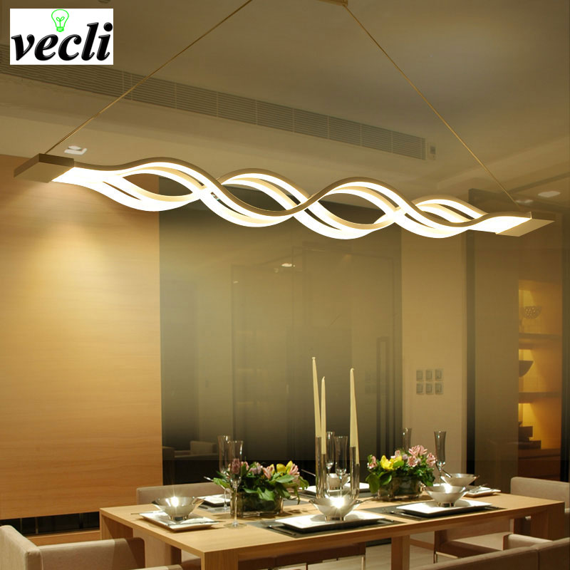 Wave design modern dinning room Studyroom pendant light , led lighting AC 85-260V 80W kitchen pendant lamp luminaire bar
