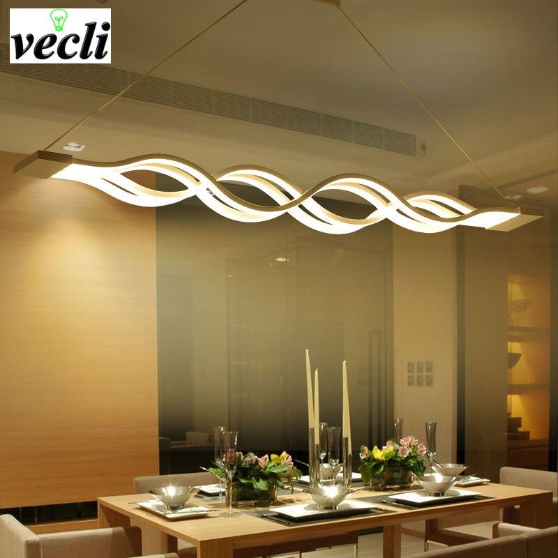 Wave design moderne salle à manger Studyroom suspension, led éclairage AC 85-260V 80W cuisine suspension lampe luminaire bar