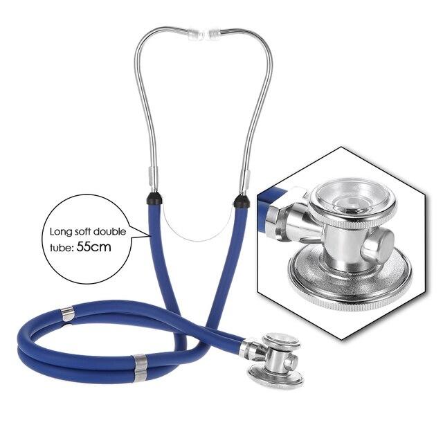 Estetoscópio médico do equipamento médico duplo cabeça dupla colorido multifuncional profissional estetoscópio cuidados de saúde