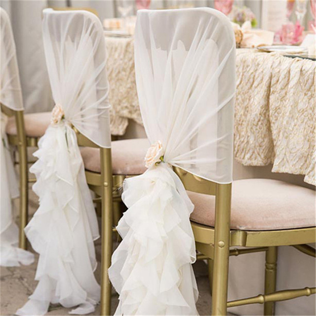 Aliexpress Buy 10pcsbag New Fashion Chiffon Chair Sash For