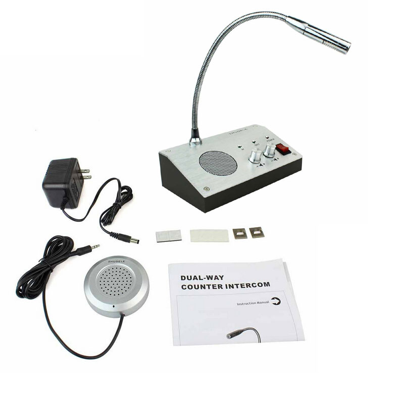 New Dual-way Bank/Office/Store/Station Window Counter Intercom Interphone System