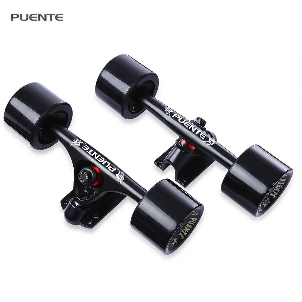 PUENTE 1 Pair Skateboard Truck Durable Alloy 70*50mm Independent Truck Wheels for Cruiser Longboard with ABEC - 9 Bearings