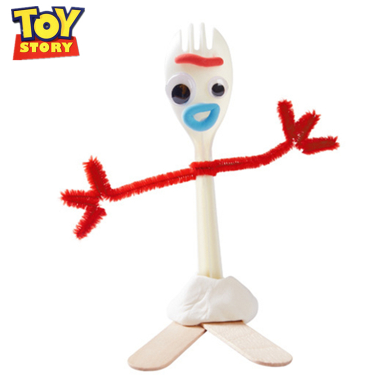 Disney Toy Story 4 Pixar Forky DIY Fork Puzzle Woody Buzz Lightyear  Jessie Action Figure Model Toys For Children Birthday Gift