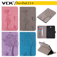 VCK High Quality Pattern TPU Flip Leather For Apple IPad 2 3 4 Case Stand Ultra
