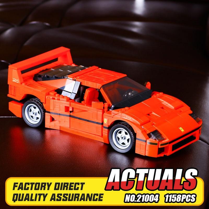 ФОТО NEW LEPIN 21004 F40 Sports Car1 158pcs Model Building Kits Blocks Bricks Toys Christmas Boys gift 10248