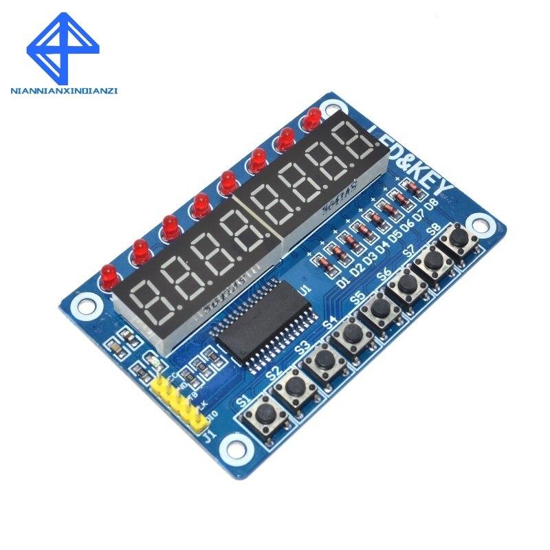 TM1638 Module Key Display For AVR Arduino New 8-Bit Digital LED Tube 8-Bit(China)