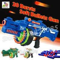 56 cm 2016 Büyük Oyuncak Tabanca Yumuşak Kurşun Elektrikli Makineli Tüfek Ordu oyuncaklar CS Oyunu Hediye Için Çocuk Boys 20 patlamaları Blaze Fırtına