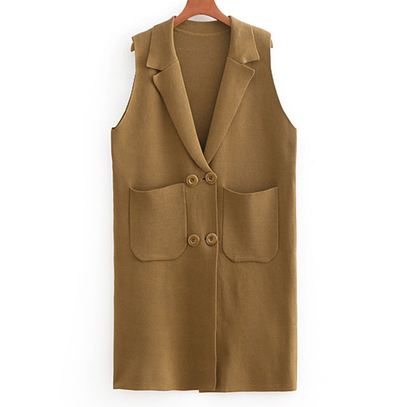 Women Cardigan Autumn Sweater Outwear Sleeveless Coat Vest Female Solid Clothing For Ladies 2018 Casual Coat Outwear Cardigan