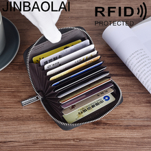 RFID Bag Genuine Leather Men Zipper Small Wallet Male Coin Purse For Money Bag Business Card Holder Mini Portomonee Walet Vallet недорого